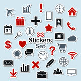 Set of icon stickers for mobile app and web Royalty Free Stock Image