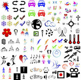 Set of 100 icon and symbols Royalty Free Stock Image
