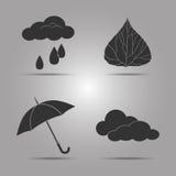 Set icon templates on the theme of autumn Royalty Free Stock Photography