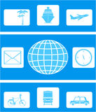 Set of icon on travel Royalty Free Stock Photography