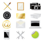 Set of icon,vector Royalty Free Stock Images