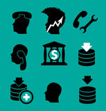 Set icon. Vector. Stock Photos