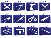 Set icon for web. With tools in a vector Royalty Free Stock Photo