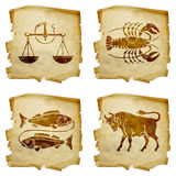 Set icon zodiac old #03. Royalty Free Stock Image
