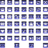 Set of icons 1. Set of icons and buttons for websites Stock Photography