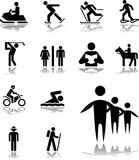 Set icons - 100. Pictographs of people. Simple pictographs for your signs and design stock illustration