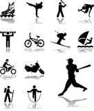 Set icons - 105. Sport. Set pictures of sportsmen, pictographs and atheletic stock Stock Image