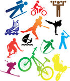 Set icons - 105C. Sport. Set pictures of sportsmen, pictographs and atheletic stock Stock Photo