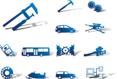 Set icons - 108A. Machines and technologies Royalty Free Stock Images