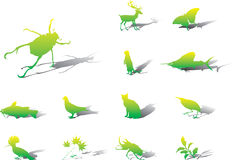 Set icons - 109A. Nature Royalty Free Stock Image
