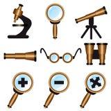 Set of icons. Set of optical icons, illustration Royalty Free Stock Photo