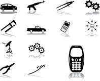 Set Icons - 132. Machines And Technologies Royalty Free Stock Images