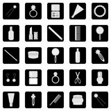 Set of icons. With lady\'s objects Stock Image