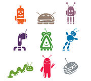Set of icons. Vector illustration - a set of icons Robots vector illustration