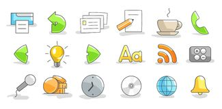 Set of icons Stock Photos