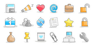 Set of icons. On a white background Royalty Free Stock Image