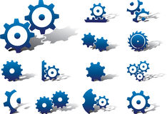 Set icons - 18A. Gears Royalty Free Stock Photos