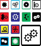 Set icons - 18B. Gears Stock Image