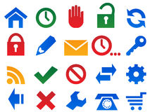 Set icons. Stock Photography