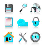 Set of icons 2 Royalty Free Stock Photo