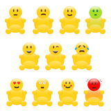 Set of icons. Illustration of different emotions Vector Illustration
