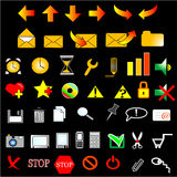 Set icons. 48 web icons internet set Stock Image