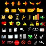 Set icons. 48 web icons internet set stock illustration