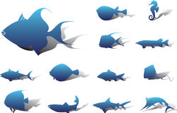 Set icons - 22A. Fish Royalty Free Stock Image