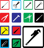 Set Icons - 23B. Tools Royalty Free Stock Photo