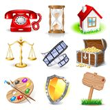 Set of icons Stock Photo