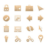 Set of icons Stock Image