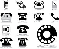 Set icons - 32. Phones. Set of 13 vector icons for web vector illustration
