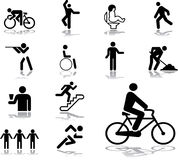 Set icons - 34. People. Set of 13 vector icons Stock Photography