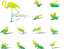 Set icons - 39A. Birds Stock Photo