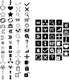 Set of icons. Set of simple icons vector royalty free illustration