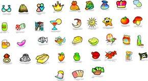 Set of icons Royalty Free Stock Photos