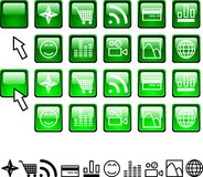 Set of icons. Stock Image