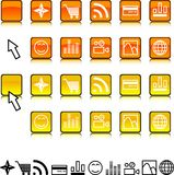 Set of icons. Stock Photos