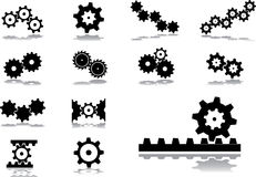 Set icons - 51. Gears Royalty Free Stock Photo