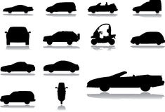 Set icons - 57. Cars. Set of 13 vector icons for web Stock Photo