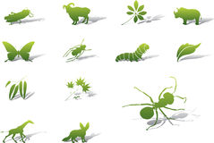Set icons - 60A. Nature Royalty Free Stock Photo