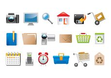 Set of icons. Illustrations of a selection of icons. Editable vector illustration Royalty Free Stock Images
