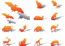 Set icons - 76A. Animals royalty free illustration