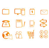 Set of icons. Isolated on white Royalty Free Stock Photography