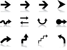 Set icons - 8. Arrows Royalty Free Stock Image