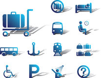 Set icons-84A. Transport icons Stock Photo