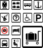 Set icons 84B. Transport icons Stock Photography
