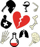 Set icons - 92C. Medicine vector illustration