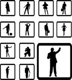 Set icons - 93B. People Stock Photo