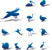Set icons - 94A. Birds Stock Photography